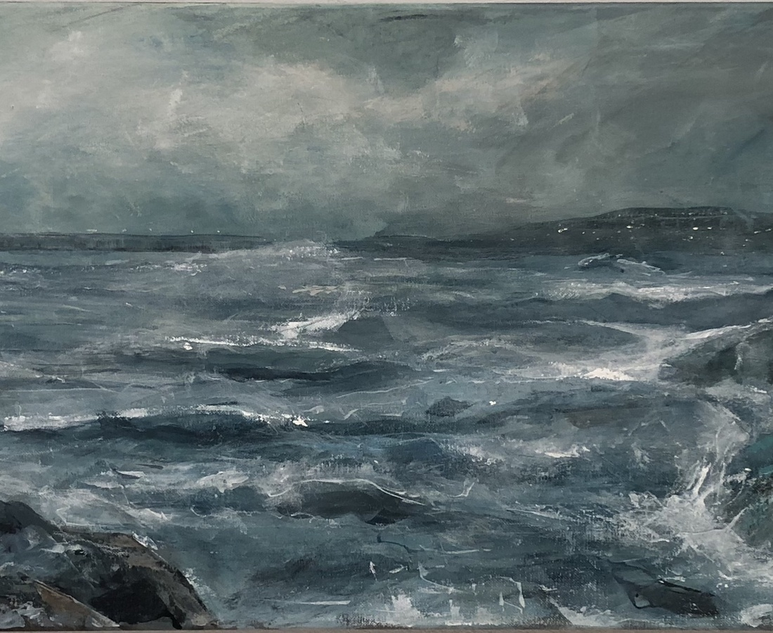 David King, Coast Series: Breakers II (study)